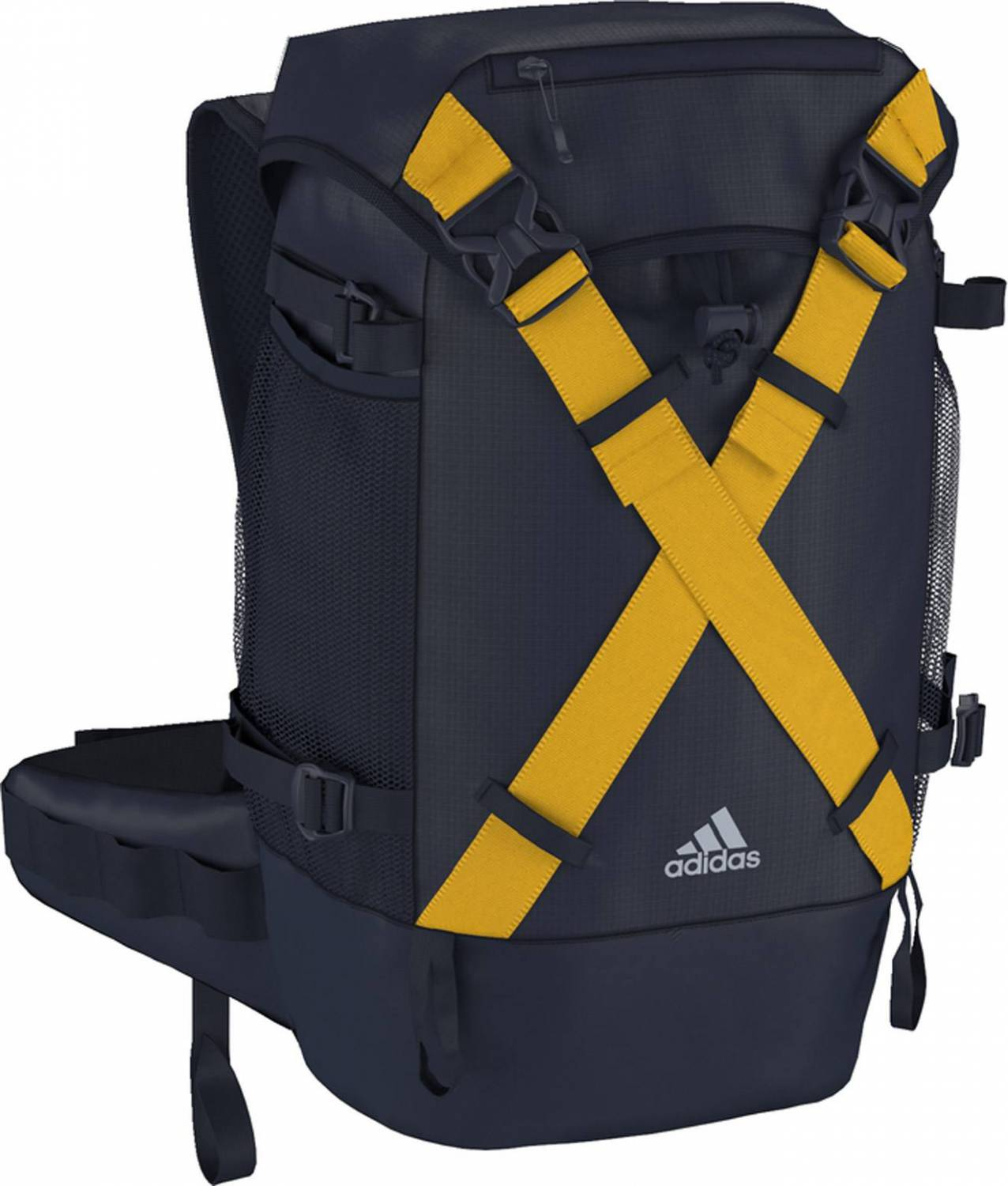 adidas All Outdoor Active Top Wanderrucksack (Farbe: midnight grey f15/super yellow blue f15)