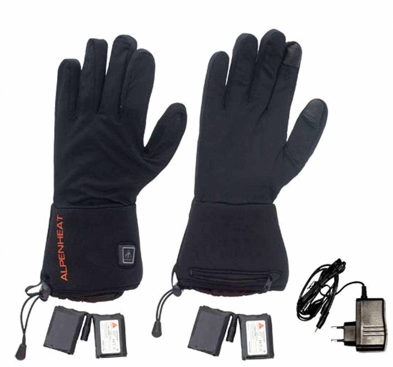 Alpenheat Fire-Gloveliner beheizbare Handschuhe (Größe: XXL, schwarz)