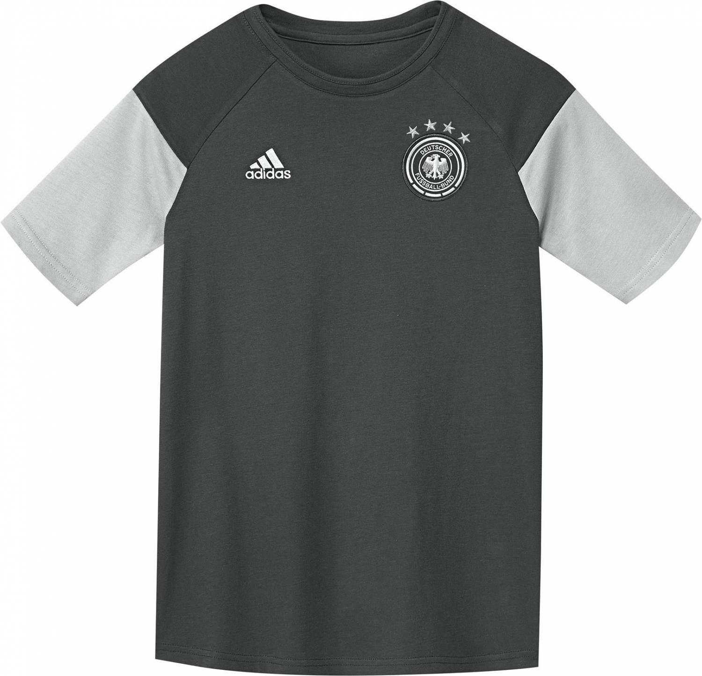 adidas DFB Trainings Tee Youth Kindertrikot (Größe: 128, dgh solid grey)