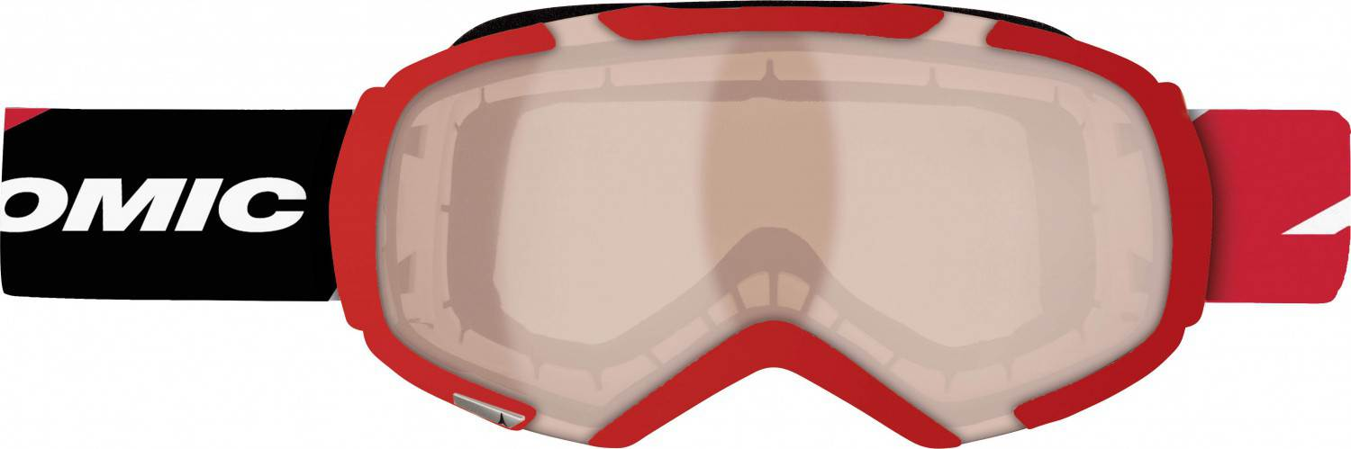 Atomic Revel S Racing Skibrille (Farbe: red/amber)