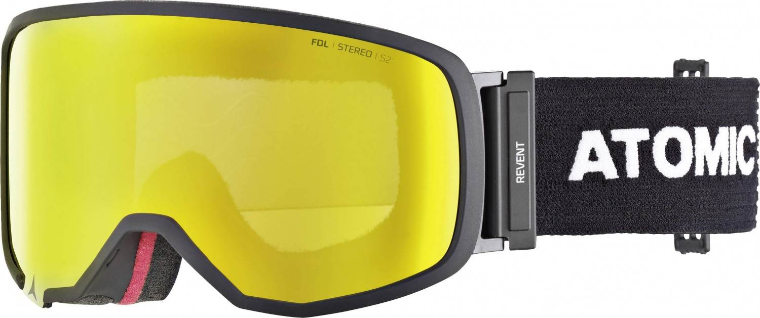 Atomic Revent S Stereo Skibrille (Farbe: black, Scheibe yellow stereo)