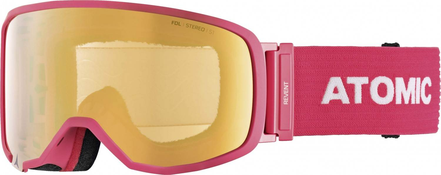 Atomic Revent S Stereo Skibrille (Farbe: pink, Scheibe pink yellow stereo)