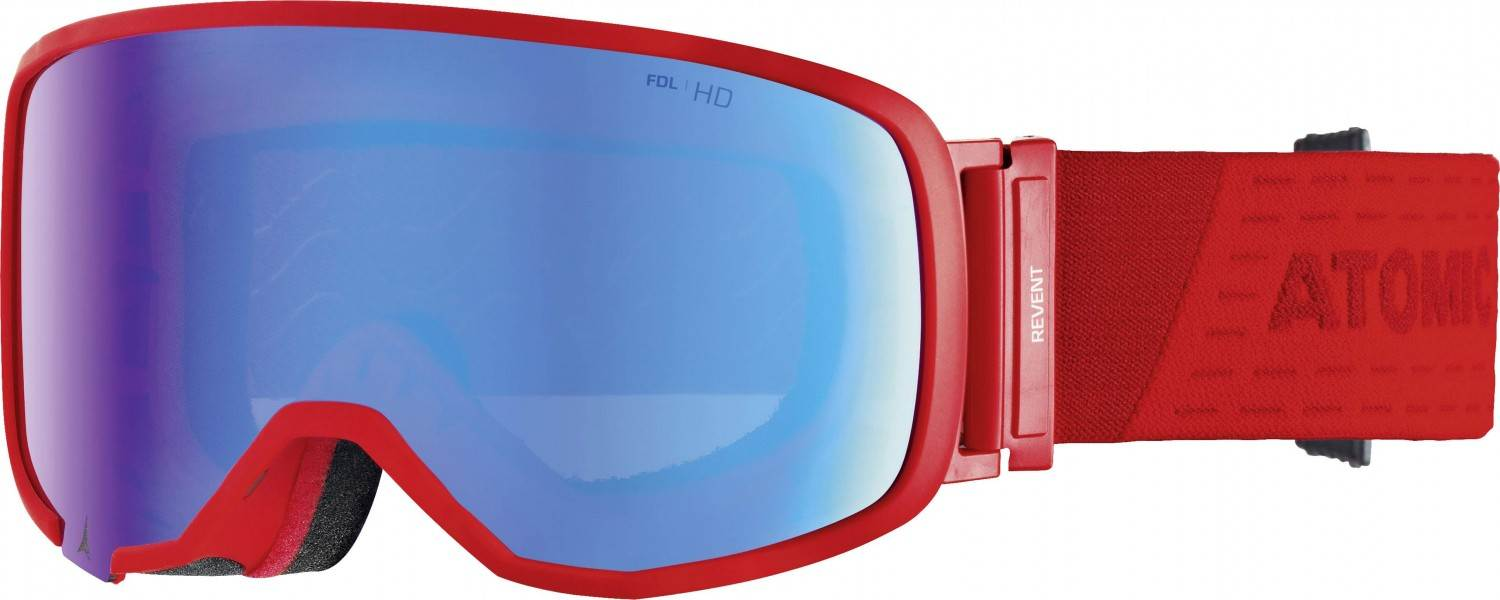 Atomic Revent Small Stereo HD Skibrille (Farbe: red, Scheibe blue stereo HD) Sale Angebote