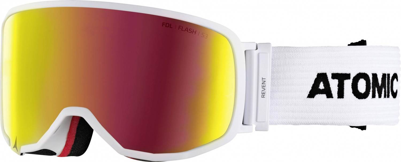 Atomic Revent L Skibrille (Farbe: white, Scheibe red flash)