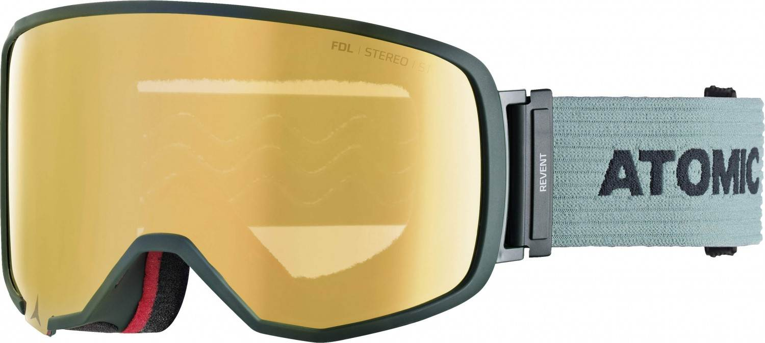 Atomic Revent Large Stereo Skibrille (Farbe: green, Scheibe pink yellow stereo)