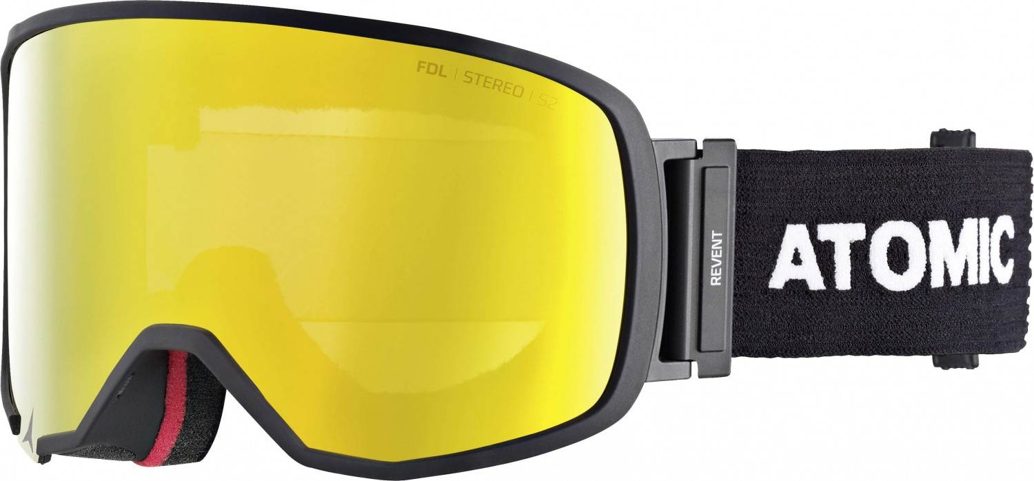 Kathlow Angebote Atomic Revent L Stereo Brillenträger Skibrille (Farbe: black, Scheibe yellow stereo)