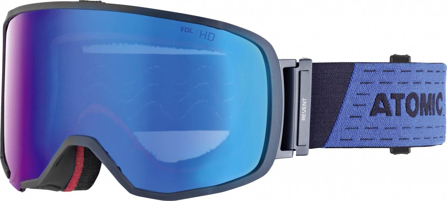 Atomic Revent Large Skibrille (Farbe: blue, Scheibe blue stereo HD)