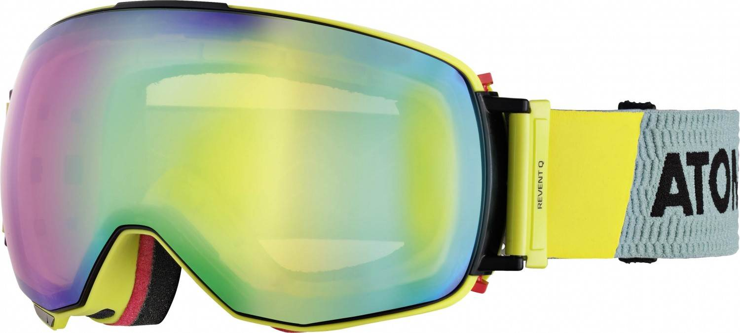 Atomic Revent Q Skibrille Stereo (Farbe: green, Scheibe green stereo)