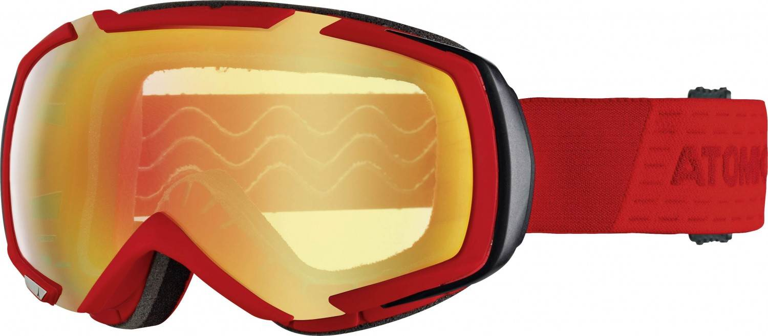 Atomic Revel Medium Stereo Skibrille (Farbe: red, Scheibe pink yellow stereo)