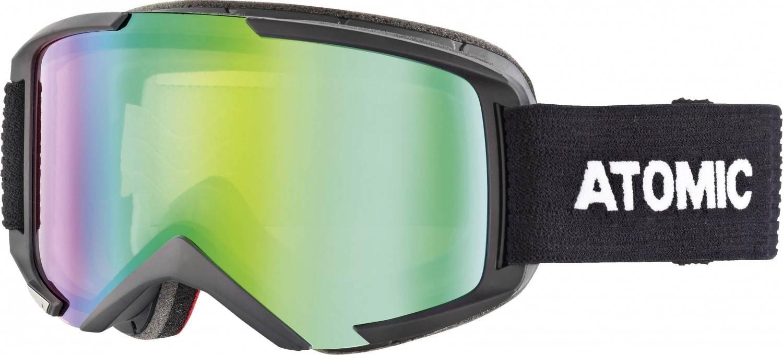 Atomic Savor M Stereo Brillenträger Skibrille (Farbe: black, Scheibe green stereo)