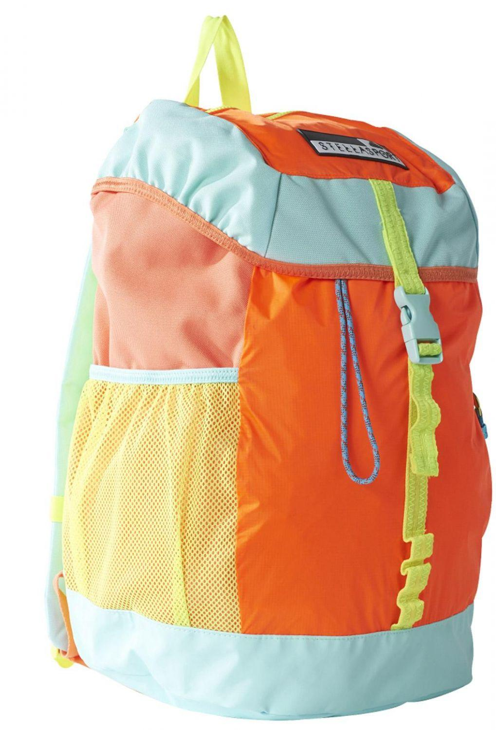 adidas Stellasport Rucksack Flap Colourblocking (Farbe: solar orange/bright yellow/radiant aqua f10)