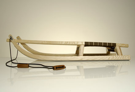 Sirch Rennrodel Abyss mit Gurtsitz (Länge: 130 cm, esche lackiert) Sale Angebote Grunewald