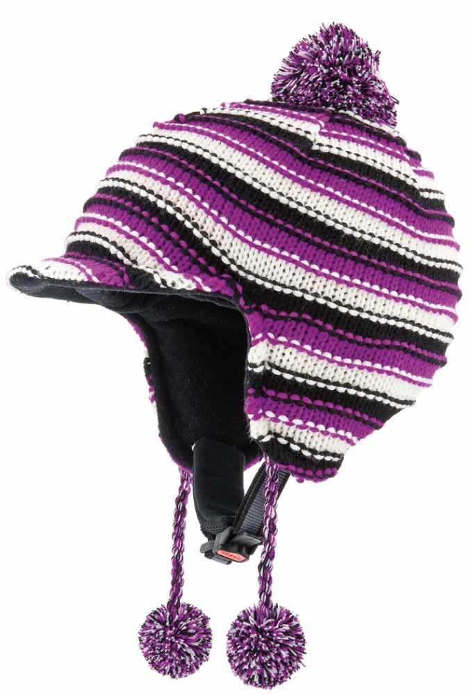 Alpina Beanie Skihelm (Größe: 55-58 cm, 11 weiß/violett)