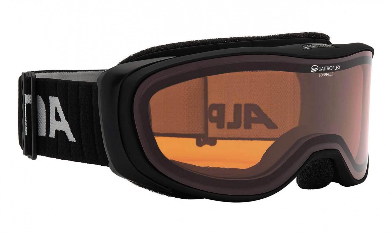 Haasow Angebote Alpina Bonfire 2.0 Brillenträgerskibrille (Farbe: 031 schwarz matt, Scheibe: QUATTROFLEX, orange)