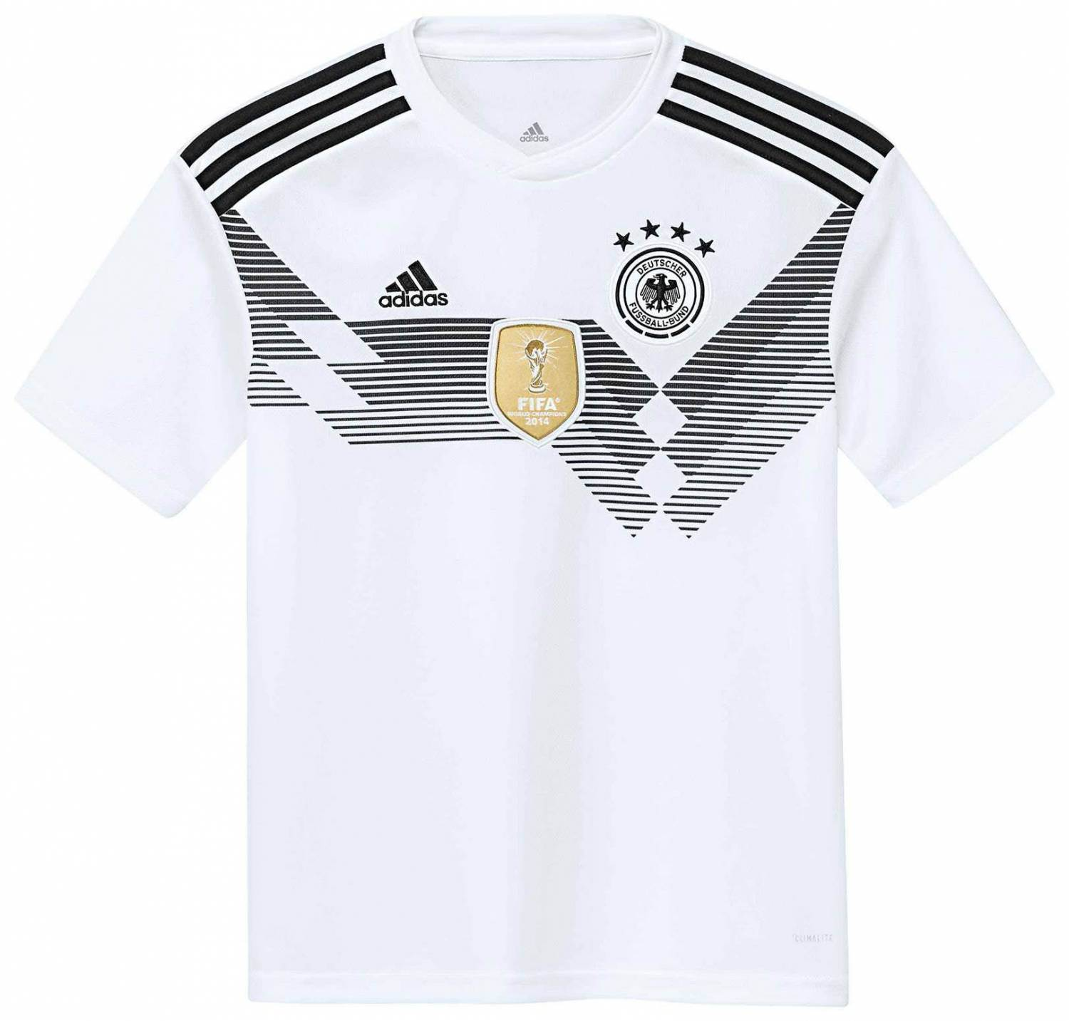 adidas DFB Home Jersey Youth Kinder Trikot (Größe 164, white black)