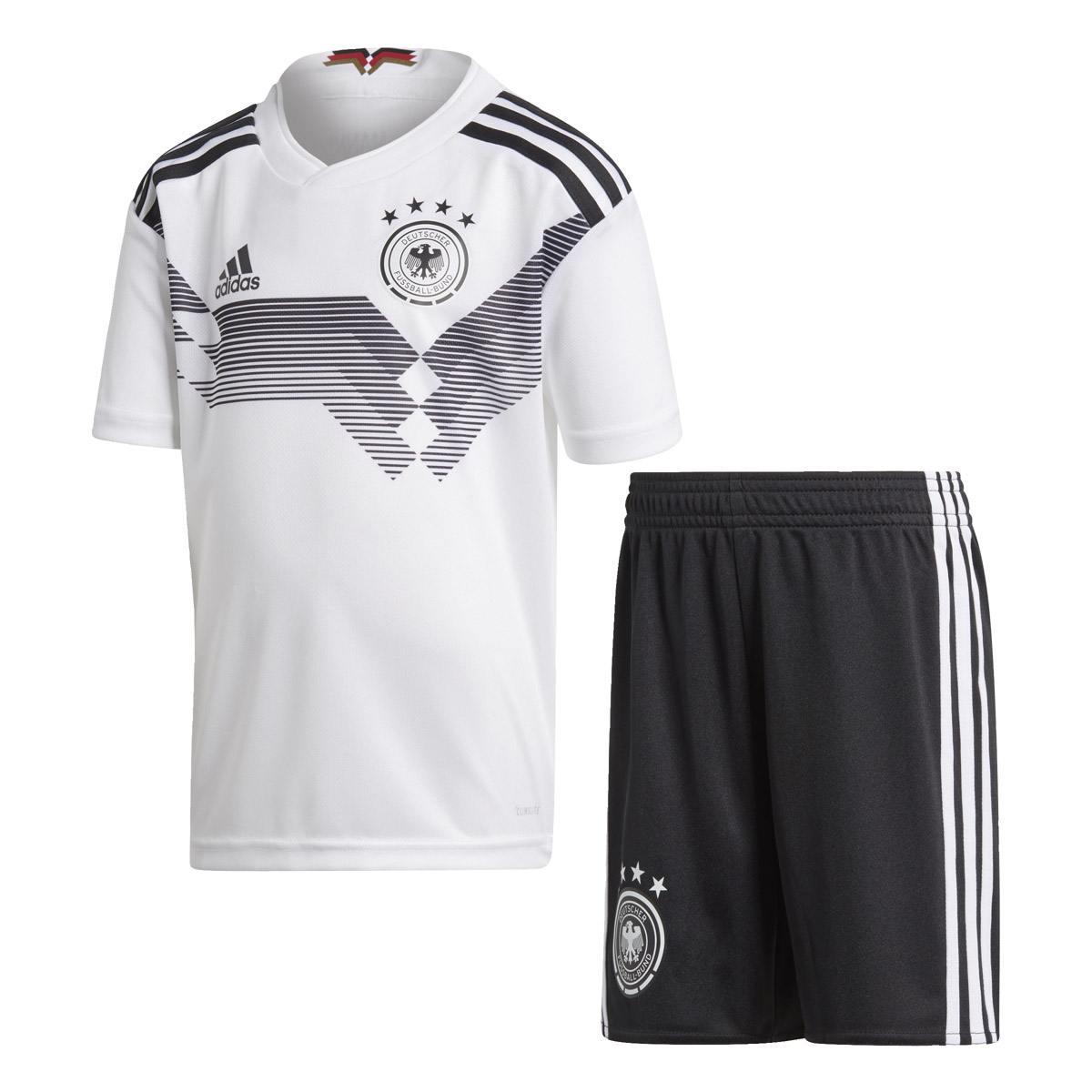adidas DFB Mini Kit Set (Größe 116, white black)