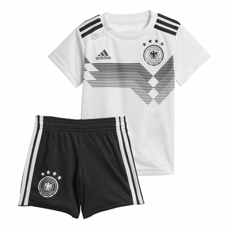 adidas DFB Baby Kit Set WM 2018 (Größe 74, white black)