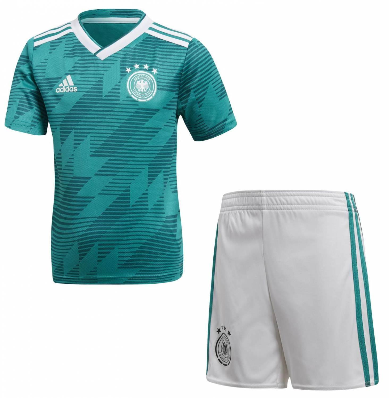 adidas DFB Mini Kit Auswärtskinderset (Größe 116, eqt green white real teal)