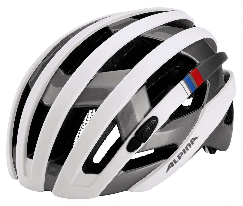Alpina Campiglio Fahrradhelm (Größe: 55-59 cm, 10 white/silver/blue/red) Preisvergleich