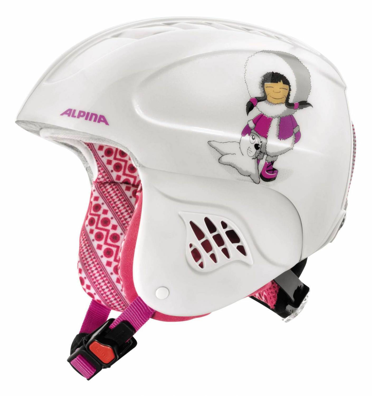 Alpina Carat Kinder Skihelm (Größe 51 55 cm, 27 eskimo girl)