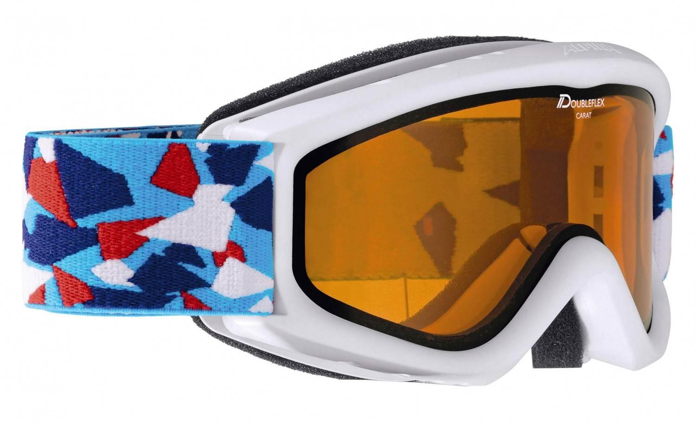 Alpina Carat D Kinderskibrille (Farbe 115 white konfetti, Scheibe DOUBLEFLEX Hicon)