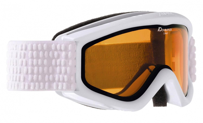 Alpina Carat D Kinderskibrille (Farbe 116 weiß, Scheibe DOUBLEFLEX Hicon)