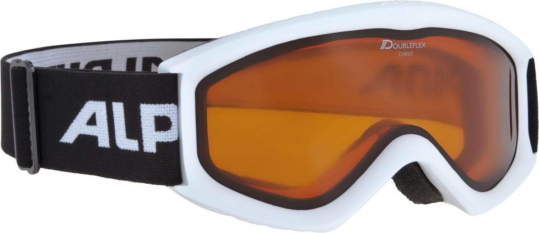 Alpina Carat D Kinderskibrille (Farbe 117 weiß, Scheibe DOUBLEFLEX)