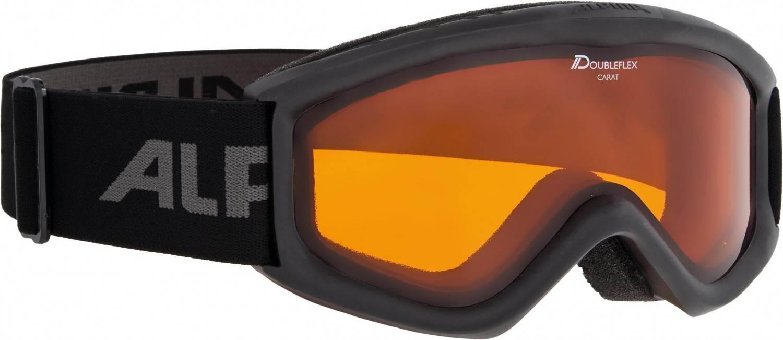 Alpina Carat D Kinderskibrille (Farbe 134 schwarz, Scheibe DOUBLEFLEX)