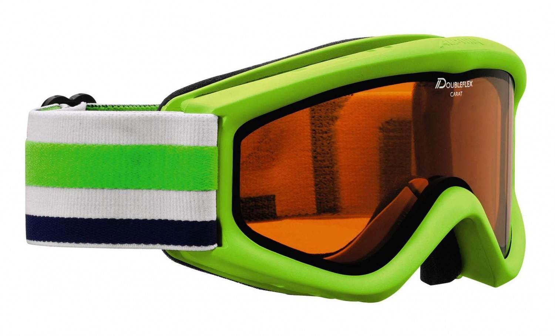 Alpina Carat D Kinderskibrille (Farbe 173 lime, Scheibe DOUBLEFLEX Hicon)