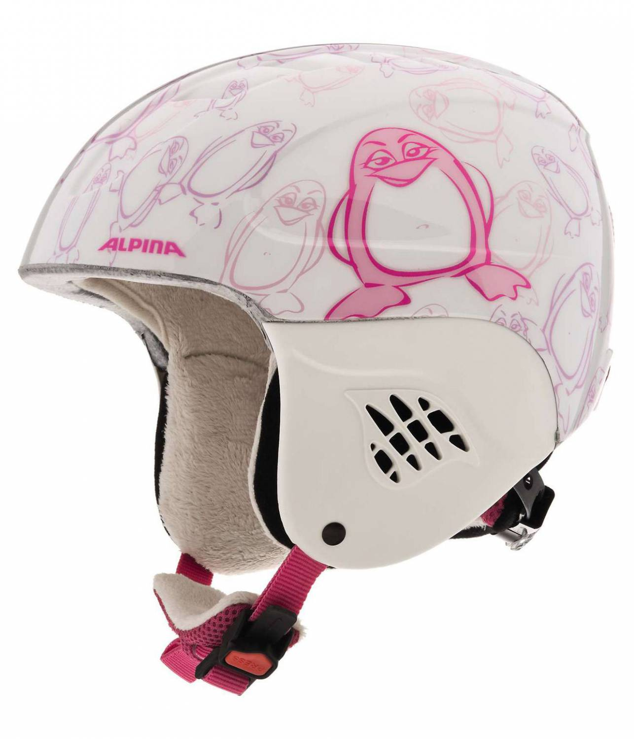 Alpina Carat Kinder Skihelm (Größe 48 52 cm, 56 happy pinguin)
