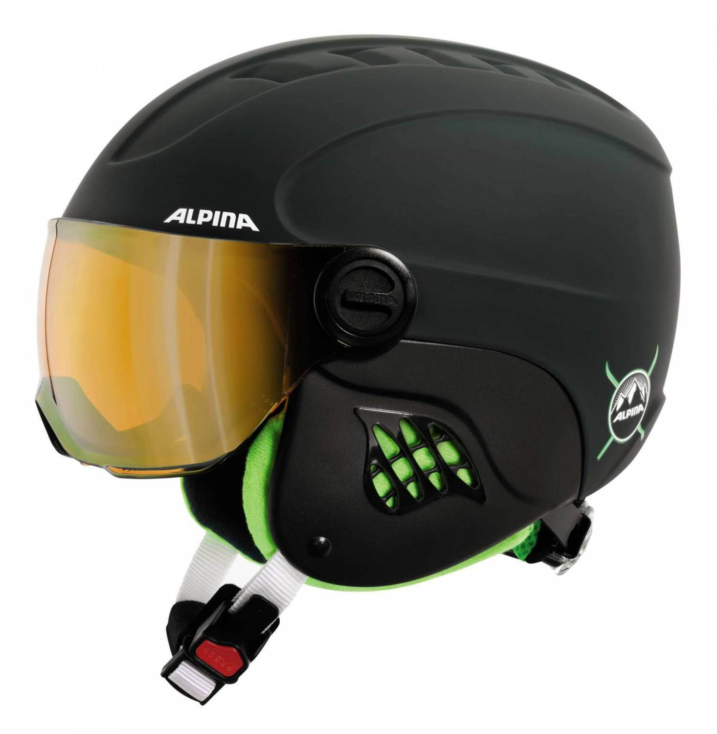 alpina carat le visor kinderskihelm ebay. Black Bedroom Furniture Sets. Home Design Ideas