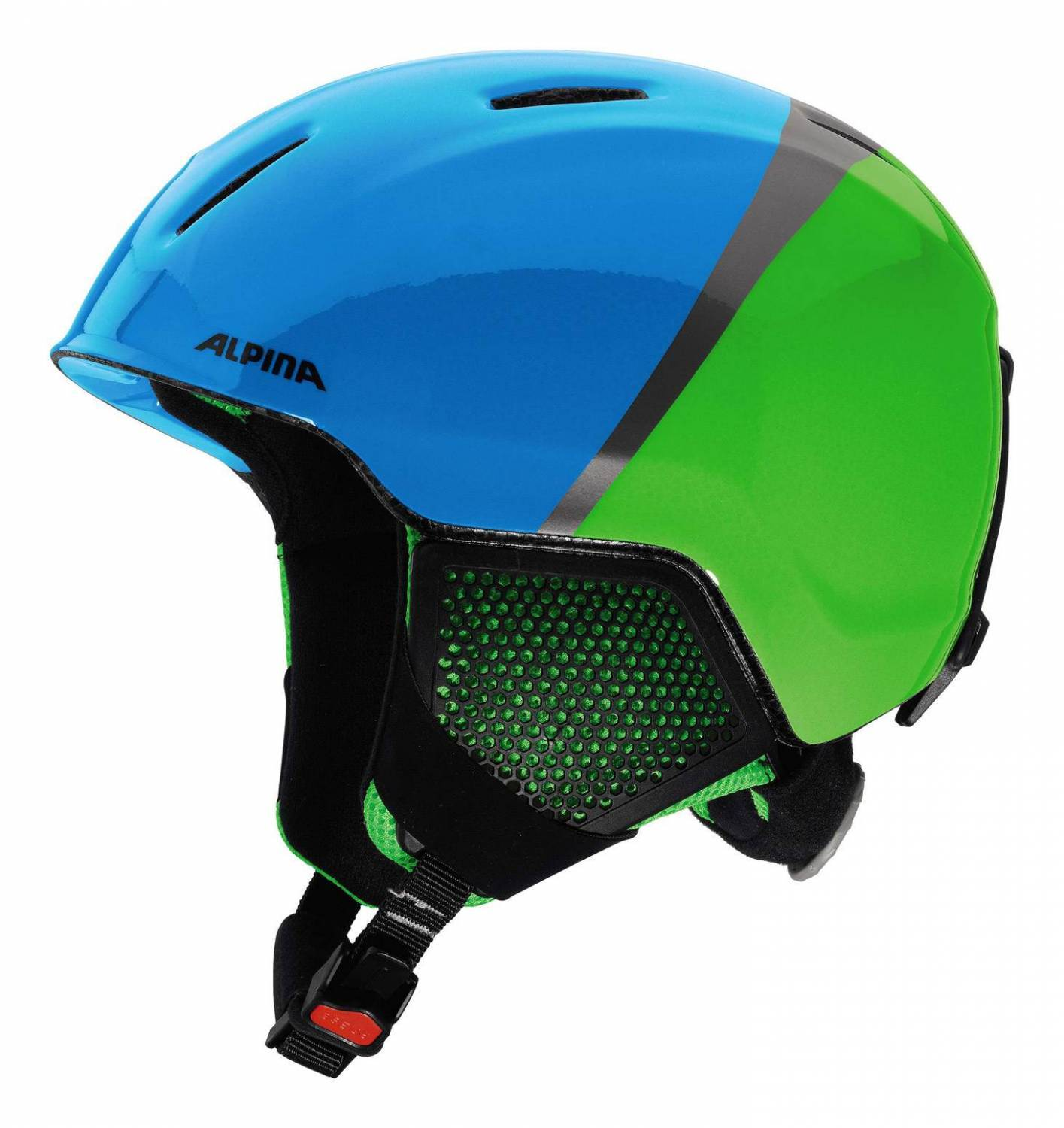 Alpina Carat LX Kinderskihelm (Größe 54 58 cm, 72 green blue grey)