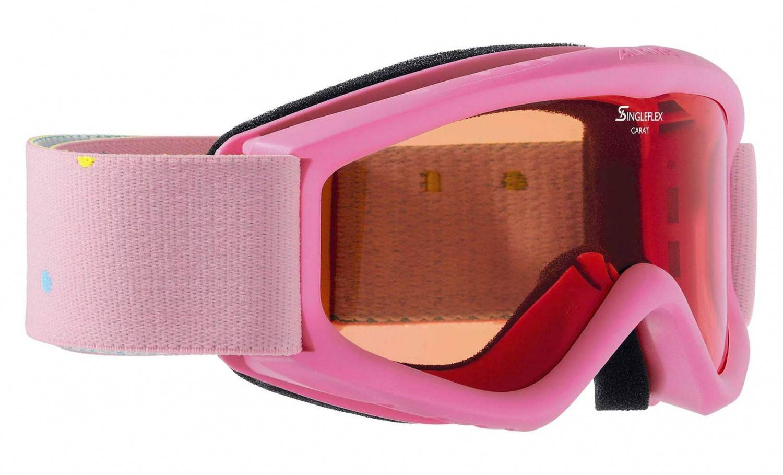 Alpina Carat S Kinder Skibrille (Farbe 456 rose, Scheibe SINGLEFLEX)