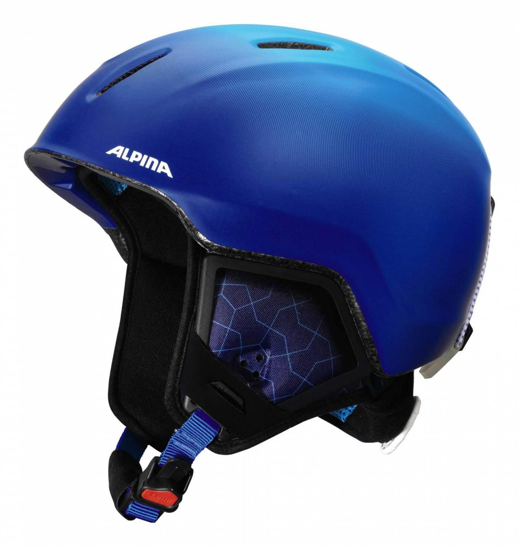 Alpina Carat XT Kinderskihelm (Größe: 51-55 cm, 81 blue/gradient matt)