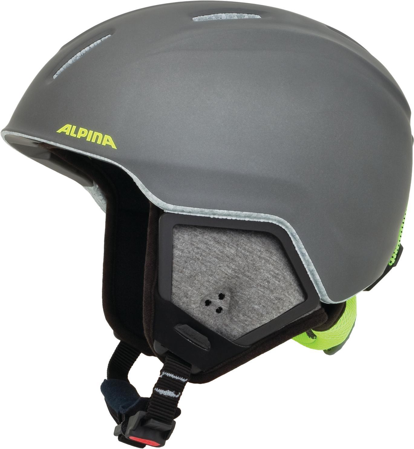 Alpina Carat XT Kinderskihelm (Größe 51 55 cm, 34 charcoal neon matt)