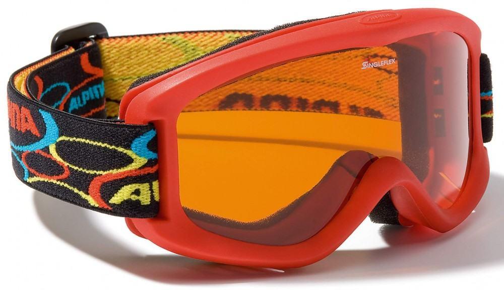 Alpina Carvy 2.0 Kinderskibrille (Farbe 451 rot, Scheibe SINGLEFLEX tint)