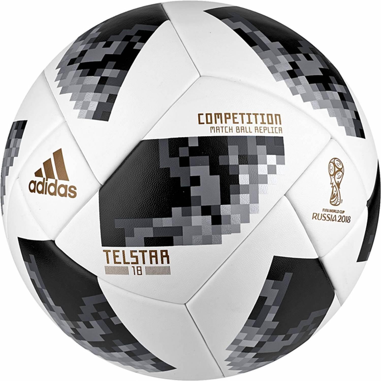 adidas World Cup Competition Trainingsball (Größe: 5, white/black/silver metallic) - broschei