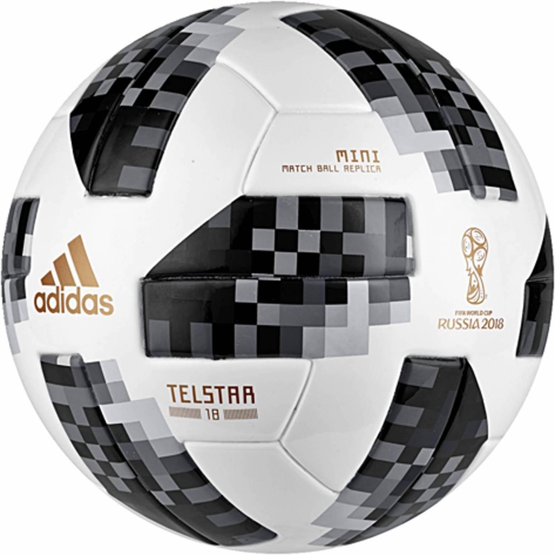 adidas World Cup Minifussball (Größe: 1, white/black/silver metallic) - broschei