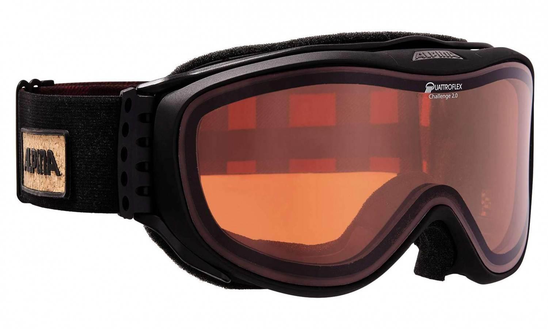 Hornow-Wadelsdorf Angebote Alpina Challenge 2.0 Skibrille (Farbe: 033 schwarz matt, Scheibe: QUATTROFLEX Hicon)