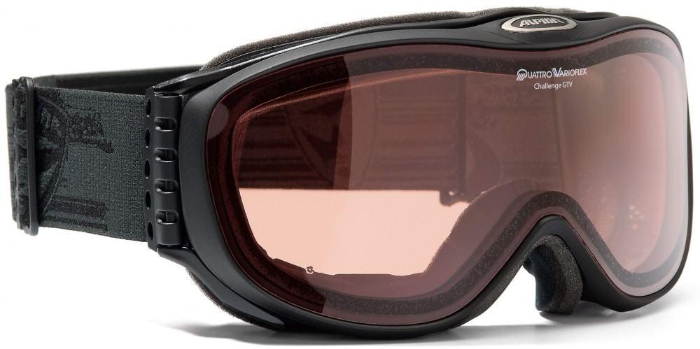 Alpina Challenge 2.0 GTV Skibrille (Farbe: 731 schwarz matt, Scheibe: Quattro-Varioflex) Sale Angebote Haasow