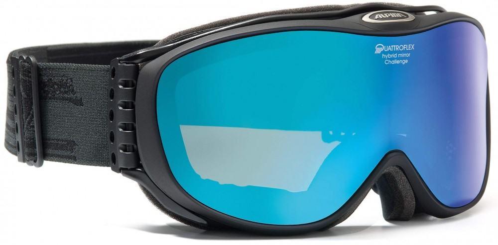 Alpina Skibrille Challenge 2.0 QM (Farbe: 831 schwarz matt, Scheibe: orange, Quattroflex-Spiegel blau) Sale Angebote Haasow