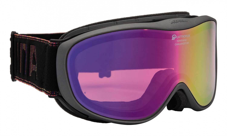 Alpina Challenge 2.0 QM Skibrille (Farbe: 833 anthrazit, Scheibe: QUATTROFLEX MIRROR pink)