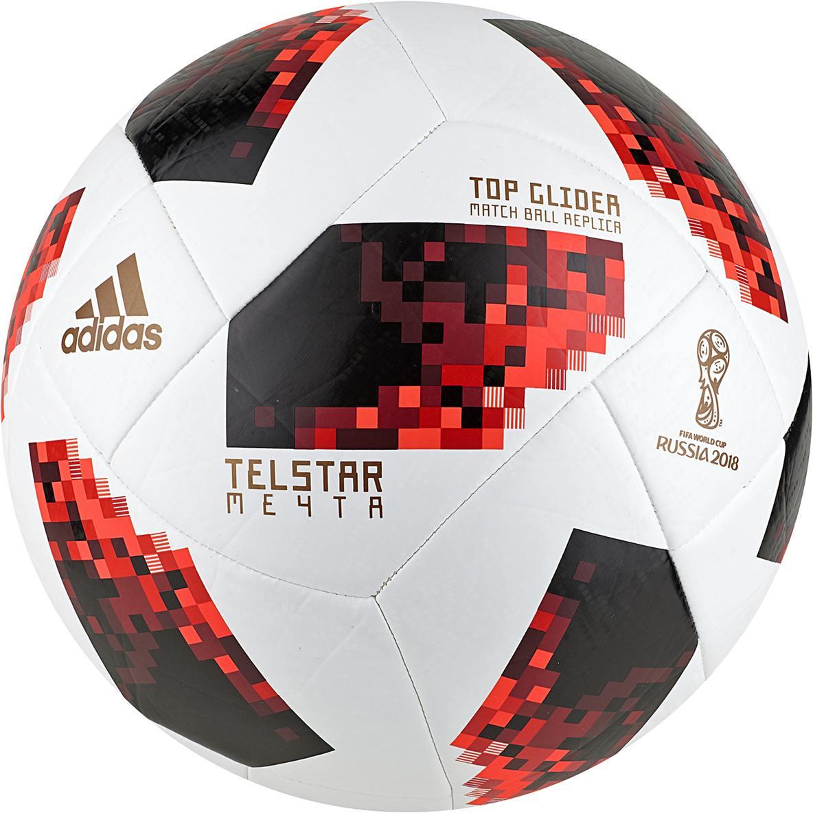 adidas World Cup Fussball Top Glider WM 2018 (Größe: 5, white/solar red/black) Preisvergleich
