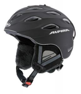 Alpina Skihelm Cybric (Kopfumfang: 58-61 cm, Farbe: 31 schwarz matt)
