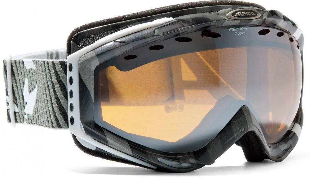 Alpina Cybric HM Skibrille (Farbe: 835 schwarz/grau, Scheibe: orange sphärisch) Sale Angebote