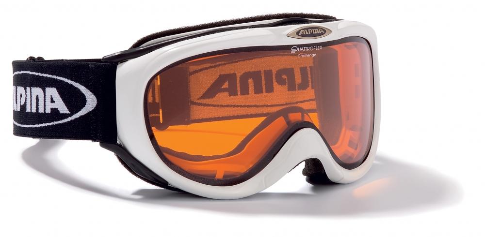 Klein Döbbern Angebote Alpina Challenge Skibrille (Farbe: 013 weiß, Scheibe: QUATTROFLEX)
