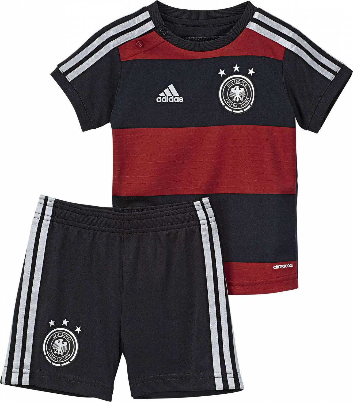 adidas DFB Away Babykit Auswärtsset (Größe 74, black victory red matte silver)