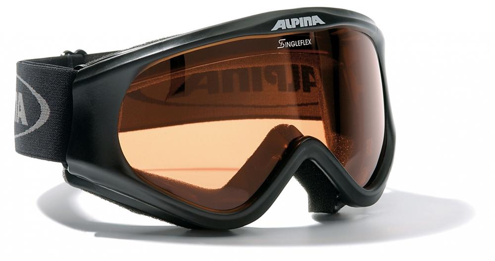 Alpina Driber Skibrille (Farbe: 331 schwarz, Scheibe: SINGLEFLEX)