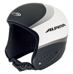 Alpina Skirennhelm Downhill (Kopfumfang: 55-56 cm, Farbe: 42 limette/cyan (Glasfaser))