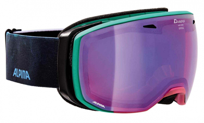 Alpina Estetica MM Skibrille (Farbe: 851 transluzent/pink/green, Scheibe: MULTIMIRROR emerald)